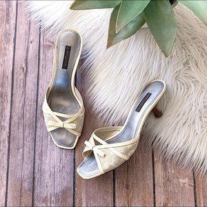 LOUIS VUITTON Mini Lin Sandals